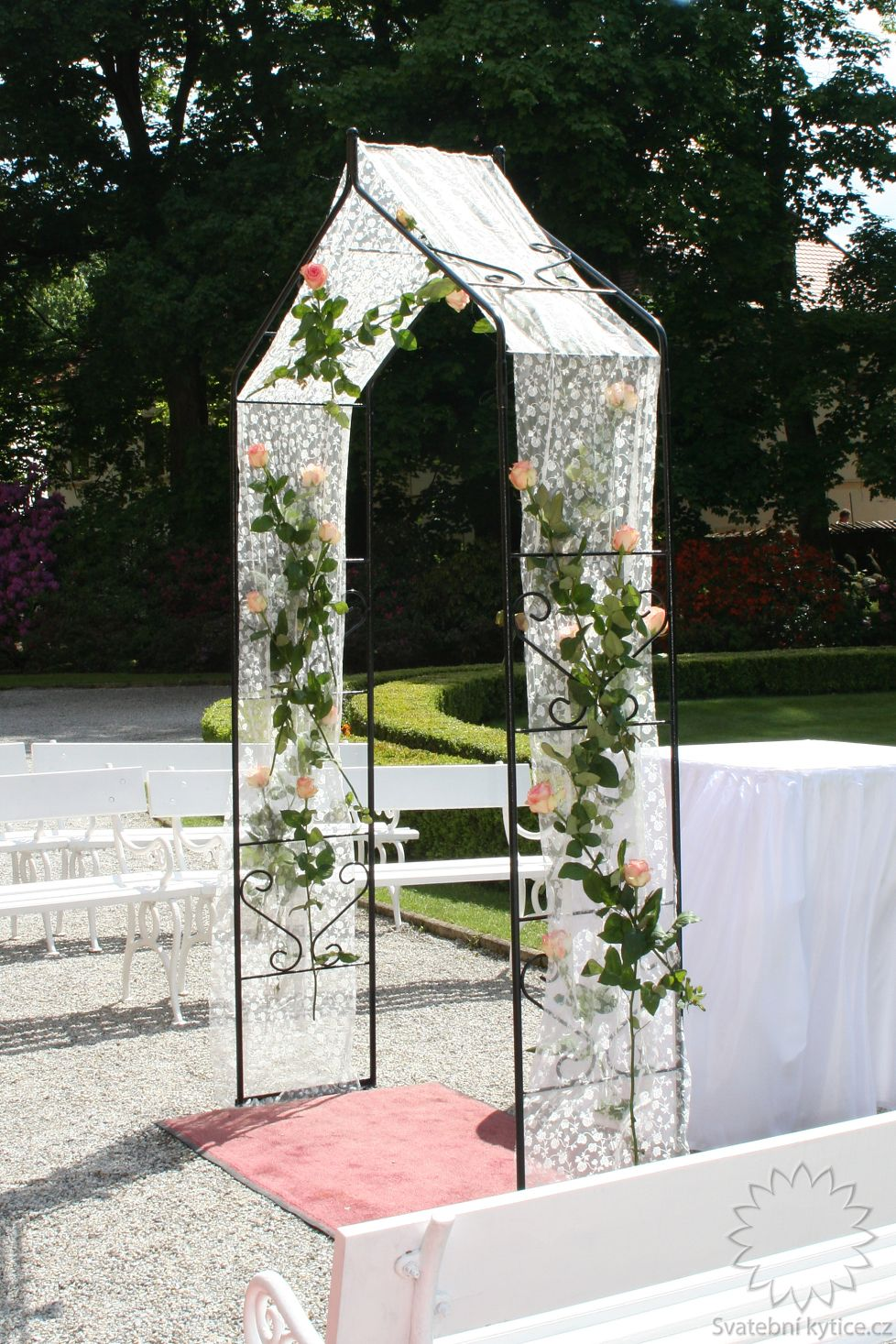 Kvetinovy Svatebni Oblouk 340 Svatebni Kytice Cz